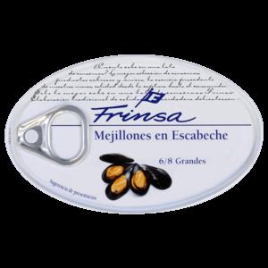 Lata de mejillones en escabeche de conservas Frinsa