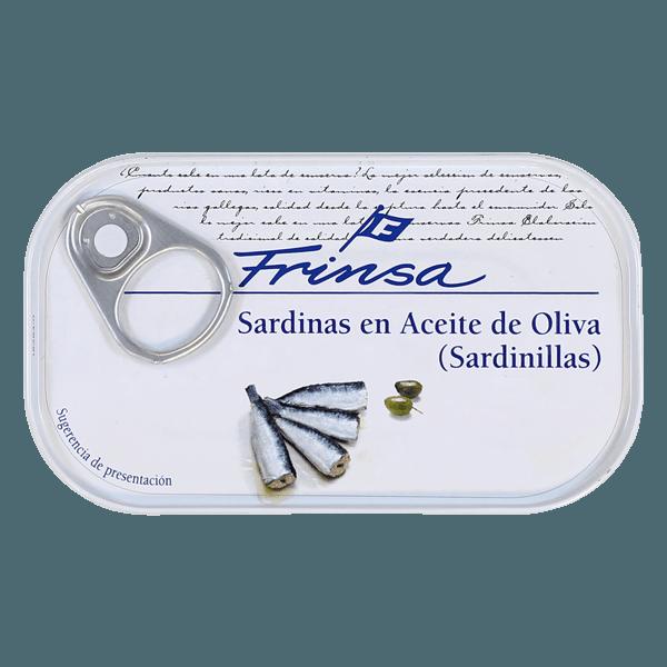 Lata de sardinillas en aceite de oliva Frinsa