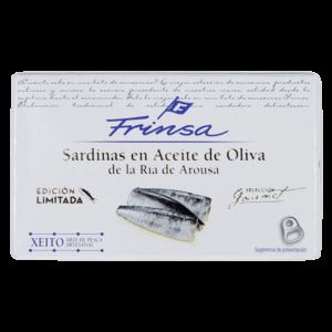 Lata de sardinas en aceite de oliva de conservas Frinsa